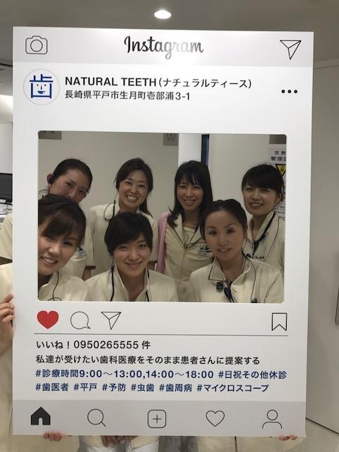 歯科 SNSパネル 生月 歯医者 instagram